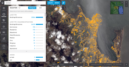 Raven with live data from Tacloban